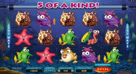 Yako Casino featuring the Video Slots Fish Party with a maximum payout of $388,000