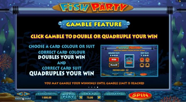 Casino-X featuring the Video Slots Fish Party with a maximum payout of $485,000