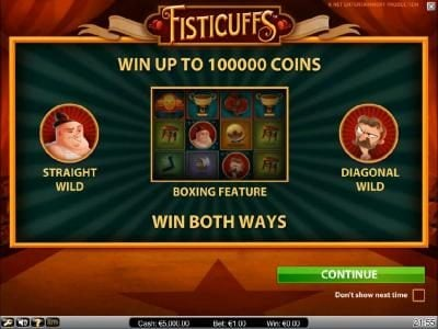 Play slots at 24 Bettle: 24 Bettle featuring the Video Slots Fisticuffs with a maximum payout of $5,000