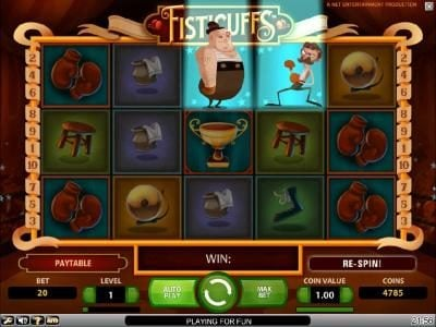 Wicked Jackpots featuring the Video Slots Fisticuffs with a maximum payout of $5,000