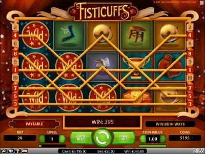 VegasMobile featuring the Video Slots Fisticuffs with a maximum payout of $5,000