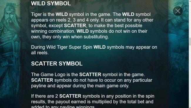 Five Tiger Generals :: Wild Symbol Game Rules