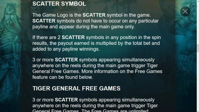 Scatter Symbol Game Rules
