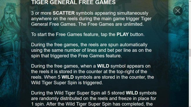 Tiger General Free Games Rules
