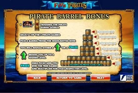 Jetbull featuring the Video Slots Five Pirates with a maximum payout of $200,000