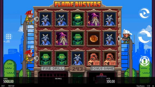 Orientxpress featuring the Video Slots Roasty McFry and the Flame Busters with a maximum payout of $528,000