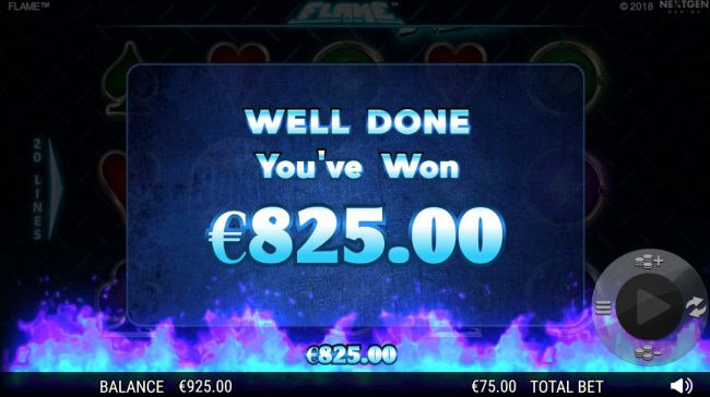 CKcasino featuring the Video Slots Flame with a maximum payout of $75,000