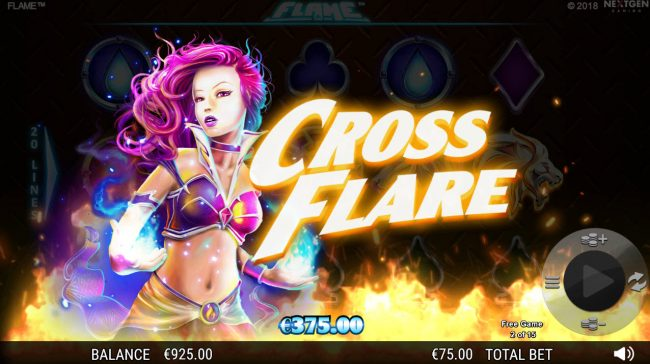 Spin Prive featuring the Video Slots Flame with a maximum payout of $75,000