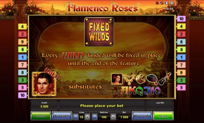 Company featuring the Video Slots Flamenco Roses with a maximum payout of $500,000