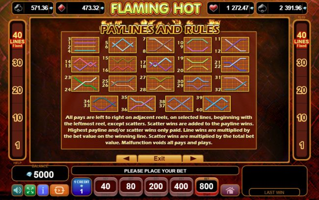 Flaming Hot :: General Game Rules