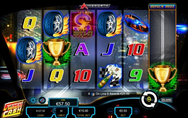 Flash Cash :: Free Spins Game Board