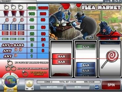 Play slots at Casino Royal Club: Casino Royal Club featuring the Video Slots Flea Market with a maximum payout of $500,000