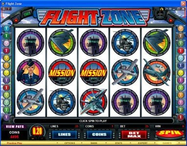Casino Splendido featuring the Video Slots Flight Zone with a maximum payout of $4,000