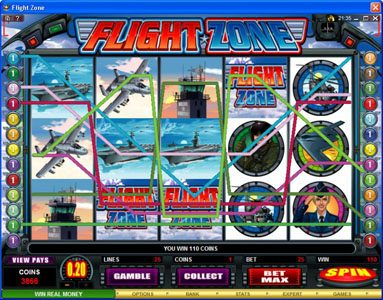 Monaco Aces featuring the Video Slots Flight Zone with a maximum payout of $4,000