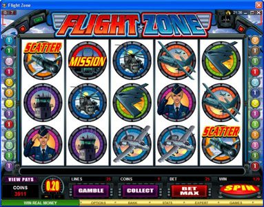 Quatro featuring the Video Slots Flight Zone with a maximum payout of $4,000