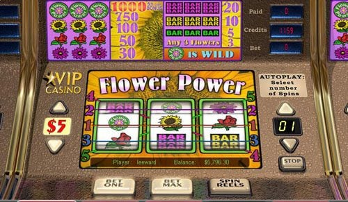 Play slots at Jonny Jackpot: Jonny Jackpot featuring the Video Slots Flower Power with a maximum payout of 1,000x