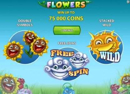 Fruity Vegas featuring the Video Slots Flowers with a maximum payout of $37,500