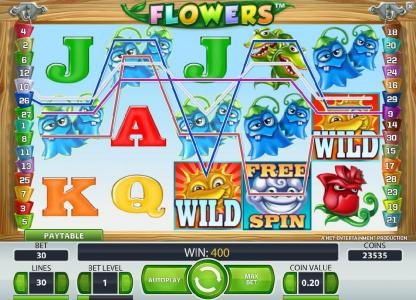 Playamo featuring the Video Slots Flowers with a maximum payout of $37,500