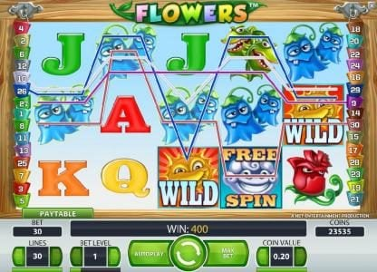 Argo featuring the Video Slots Flowers with a maximum payout of $37,500