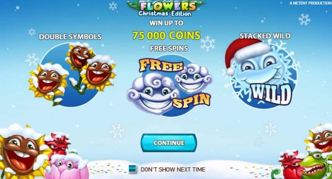Money Storm featuring the Video Slots Flowers Christmas Edition with a maximum payout of $37,500