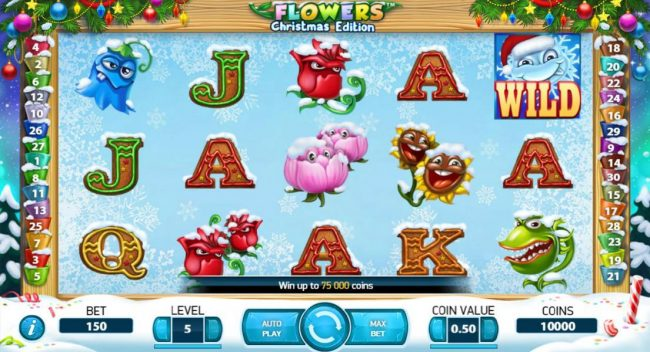 Winward featuring the Video Slots Flowers Christmas Edition with a maximum payout of $37,500