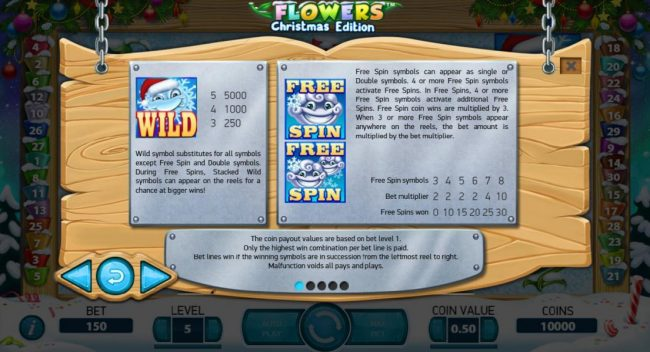 Prime Slots featuring the Video Slots Flowers Christmas Edition with a maximum payout of $37,500