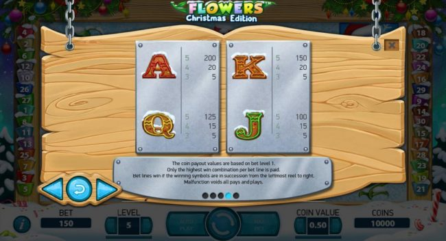 Hello featuring the Video Slots Flowers Christmas Edition with a maximum payout of $37,500