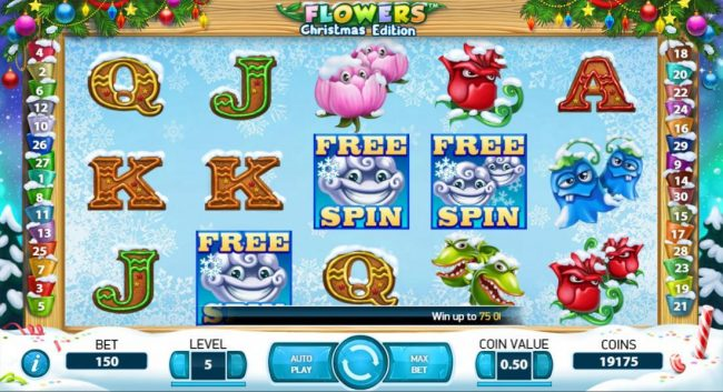 Guru Play featuring the Video Slots Flowers Christmas Edition with a maximum payout of $37,500