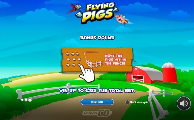 Play slots at Neder: Neder featuring the Video Slots Flying Pigs Bingo with a maximum payout of $75,000