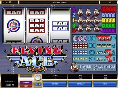 Play slots at Casdep: Casdep featuring the Video Slots Flying Ace with a maximum payout of $30,000