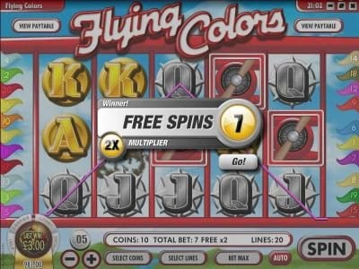 Supernova featuring the Video Slots Flying Colors with a maximum payout of $25,000