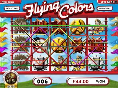 Mayan Fortune featuring the Video Slots Flying Colors with a maximum payout of $25,000