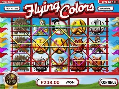 Superbet Palace featuring the Video Slots Flying Colors with a maximum payout of $25,000