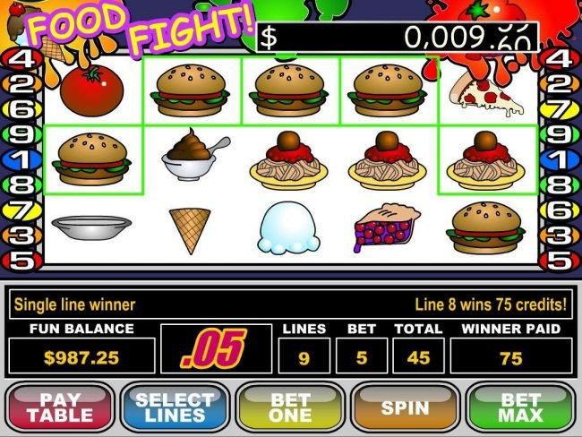 Play slots at La Riviera: La Riviera featuring the Video Slots Food Fight with a maximum payout of $50,000