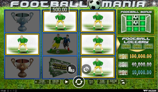 Football Mania :: Multiple winning paylines