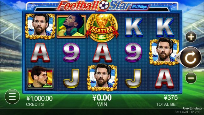 Vegas Crest featuring the Video Slots Football Star with a maximum payout of $3,075,000