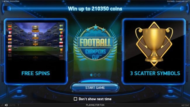 Play slots at 4 Stars: 4 Stars featuring the Video Slots Football Champions Cup with a maximum payout of $1,051,750