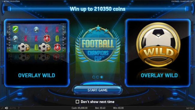 Prime Slots featuring the Video Slots Football Champions Cup with a maximum payout of $1,051,750