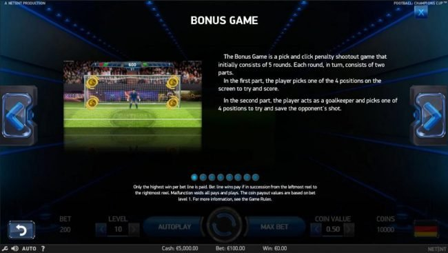 Play slots at Club Vulkan: Club Vulkan featuring the Video Slots Football Champions Cup with a maximum payout of $1,051,750