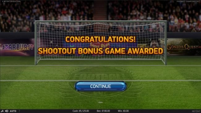 EU Casino featuring the Video Slots Football Champions Cup with a maximum payout of $1,051,750