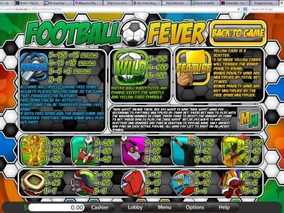 Platinum Reels featuring the Video Slots Football Fever with a maximum payout of $937.50