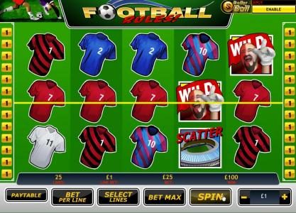 Fly Casino featuring the Video Slots Football Rules with a maximum payout of $2,000,000