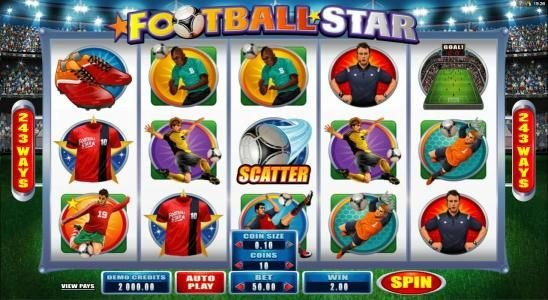 Play slots at Quatro: Quatro featuring the Video Slots Football Star with a maximum payout of $105,000