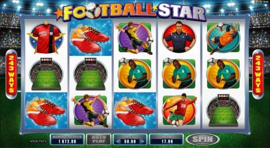 King Neptunes featuring the Video Slots Football Star with a maximum payout of $105,000