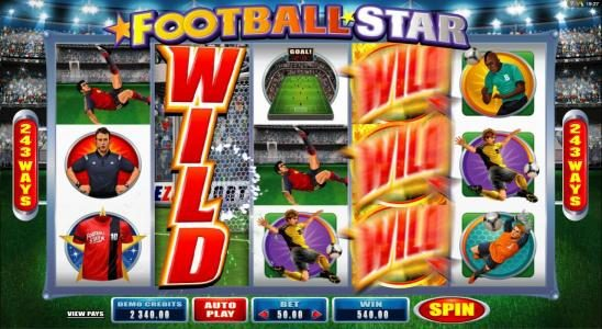 Luxury featuring the Video Slots Football Star with a maximum payout of $105,000