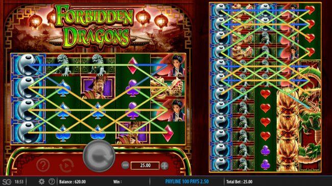 Forbidden Dragons :: Multiple winning paylines