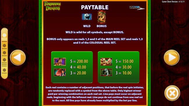 Forbidden Dragons :: Medium Value Symbols