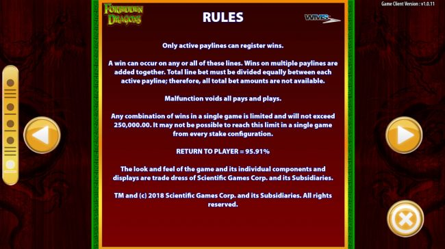 Forbidden Dragons :: General Game Rules