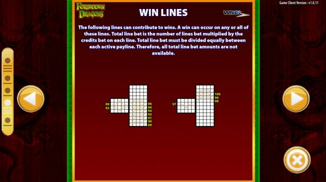 Forbidden Dragons :: Win Lines
