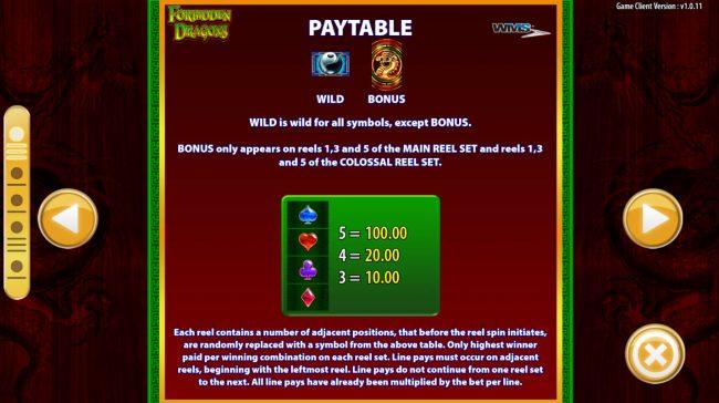 Forbidden Dragons :: Low Value Symbols